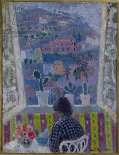 Window in Menton, 1948 (oil on plywood)