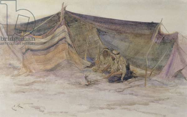 A Bedouin Camp (w/c on paper)