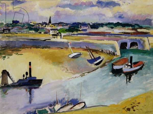 St. Malo Harbour, 1936 (oil on canvas)