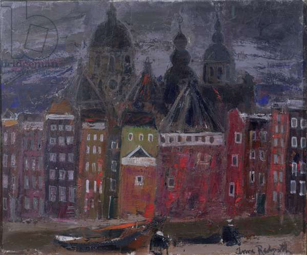Amsterdam Buildings, c.1963 (oil on canvas)