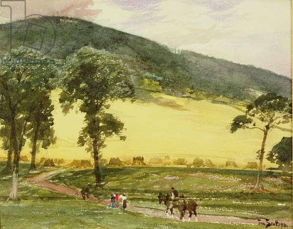 Border Landscape, 1916 (w/c on paper)