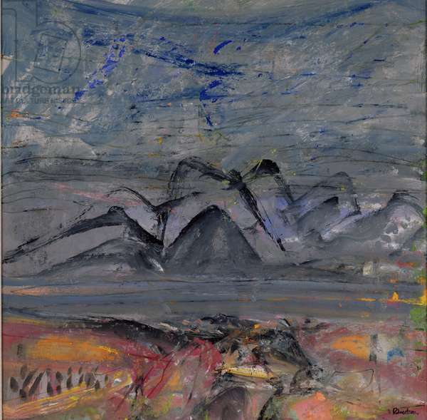 Landscape, 1984 (oil on board)