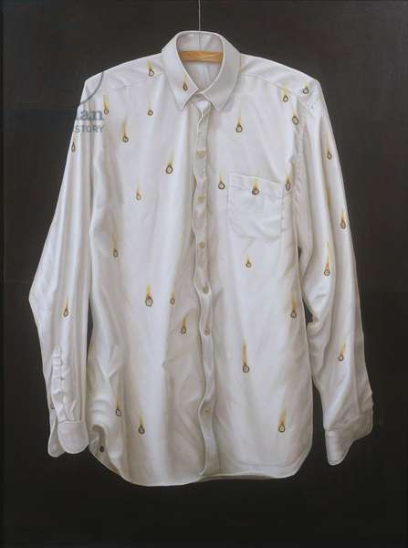 The Burnt Shirt (oil on canvas)