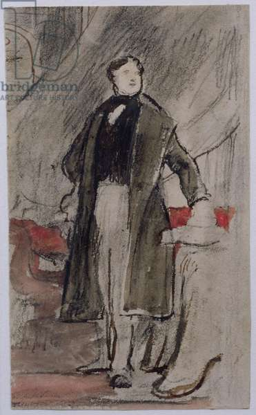 Study for Portrait of Daniel O'Connell M.P. (1775-1847) (w/c and pencil on paper)