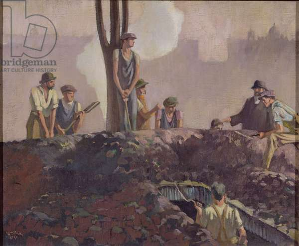 Labourers, 1947 (oil on canvas)