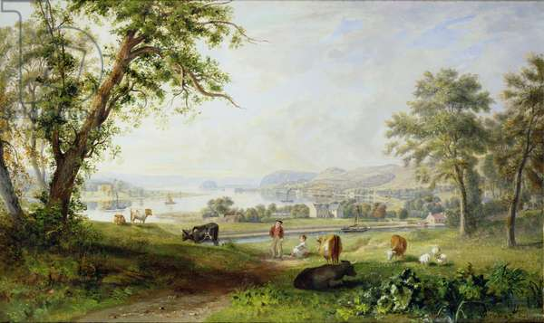 Extensive View of the Clyde from Dalnottar Hill, 1823 (oil on canvas)