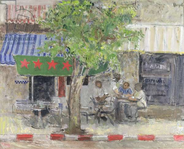 Cafe Fez (oil on canvas)