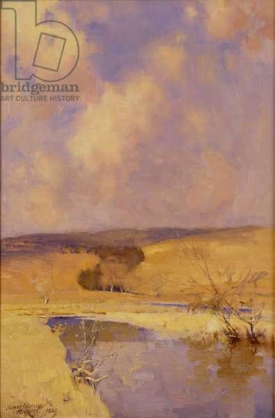 Winter Sunshine, Moniaive, 1889 (oil on canvas)