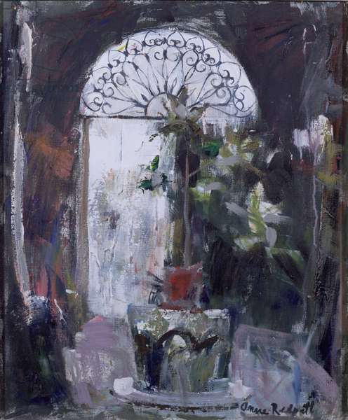 Courtyard in Venice, 1964 (oil on canvas)
