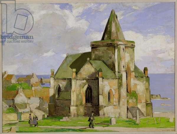 St. Monance Kirk (oil on canvas)