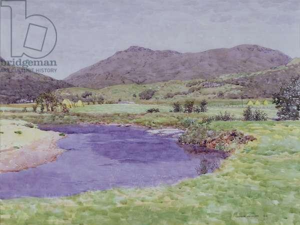 The River Goil, Argyllshire, 1913 (w/c on paper)