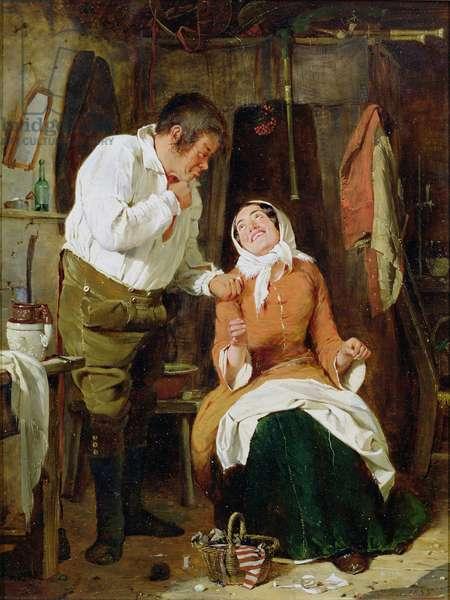 A Raal Convanience, 1855 (oil on panel)
