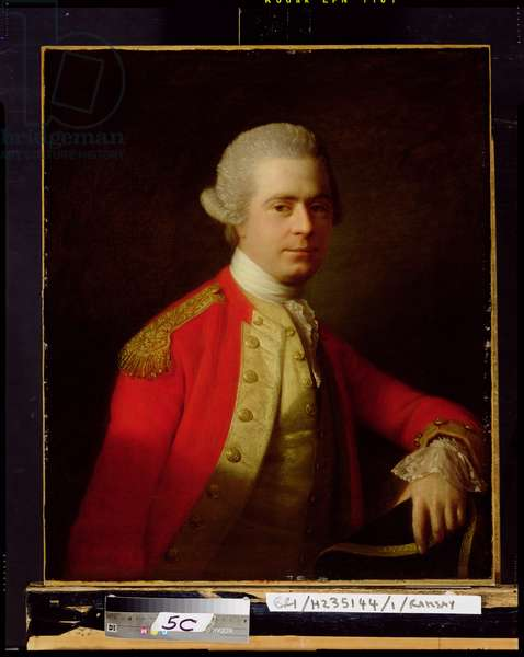 Portrait of an Officer, possibly Brigadier-General David Wedderburn (oil on canvas)