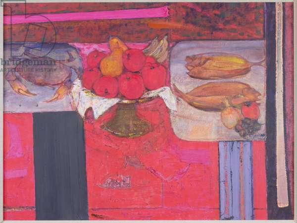 Compotier of Apples, 1987-88 (oil on board)