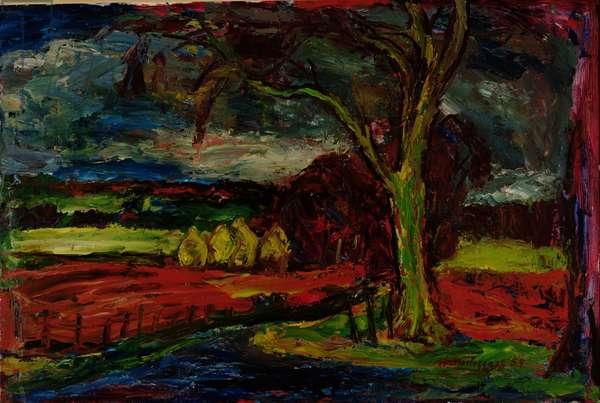 Near Tyninghame, 1959 (oil on panel)