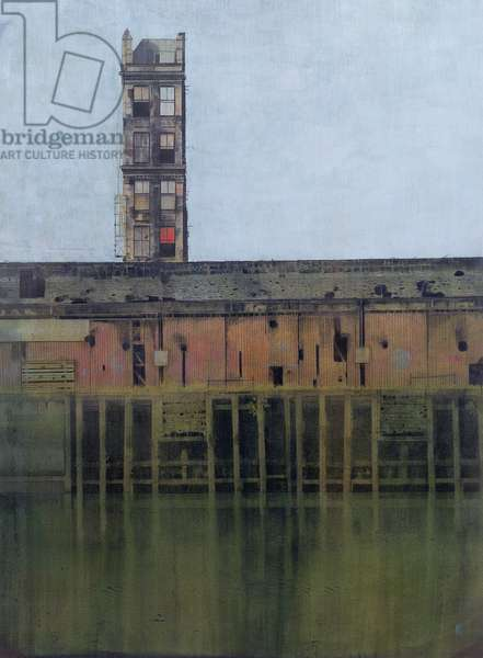Where Once There Were Ships (Broomielaw Street, Clyde, Glasgow) 2000 (w/c and crayon on paper)