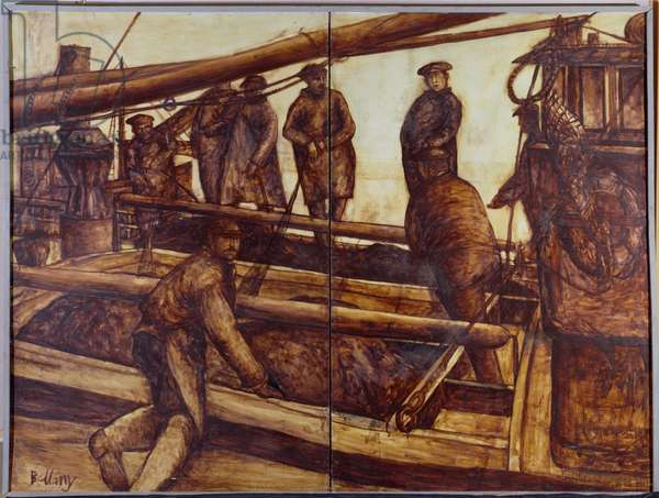 The Herring Fishers (oil on board)