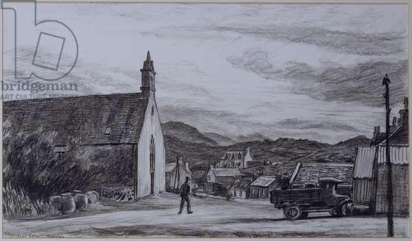 The Kirk, Isle of Harris (pencil on paper)