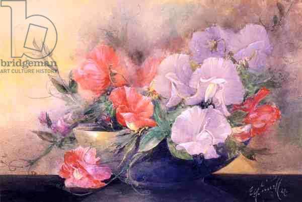 A Bowl of Sweet Peas, 1921 (w/c and gouache on paper)