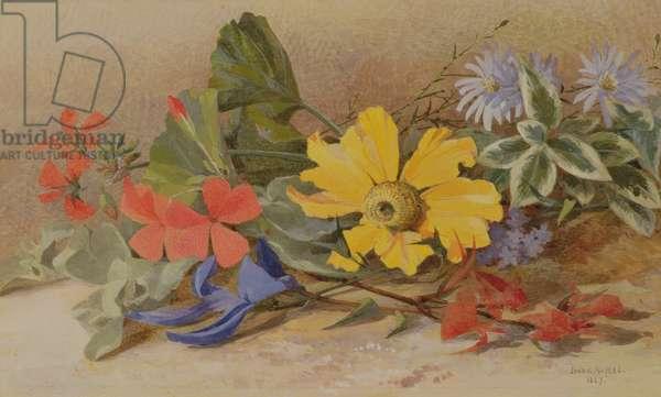 Still Life - mixed Flowers, 1867