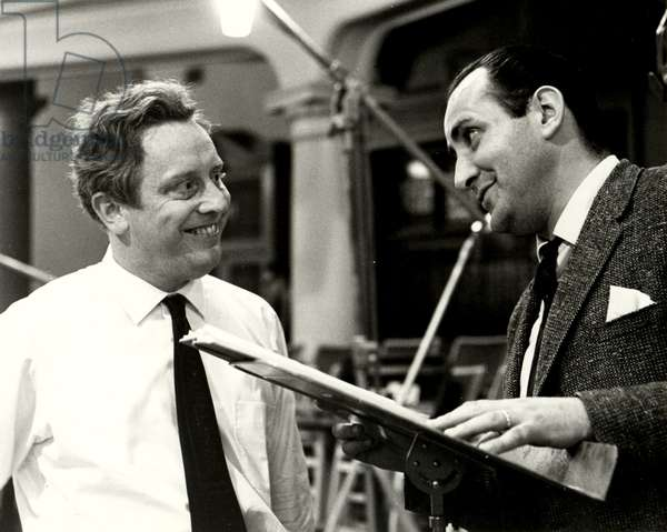 MACKERRAS, Charles with singer in 1972 Australian conductor & editor 1925