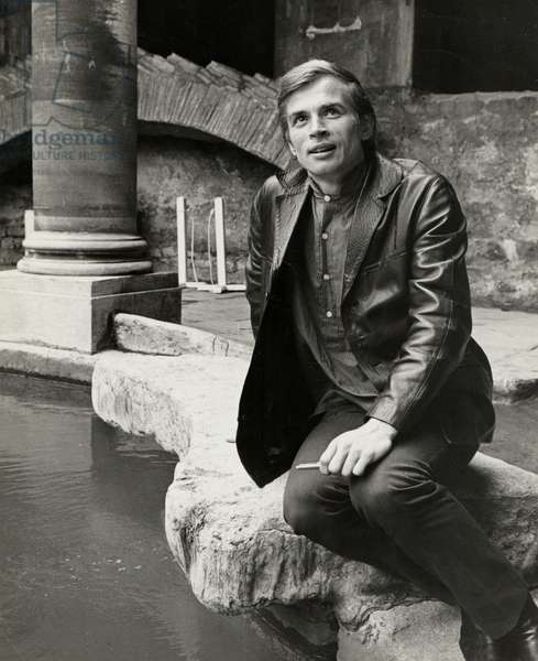 Rudolf Nureyev  1963 posing at the Roman baths in Bath