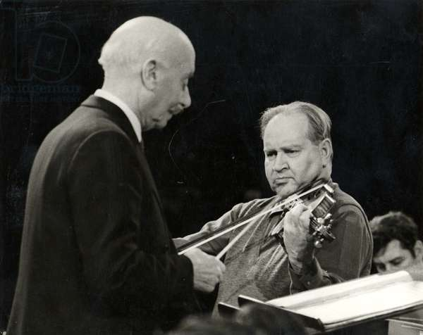 David Oistrakh playing violin with Sir Adrian Boult conducting (1889-1983)