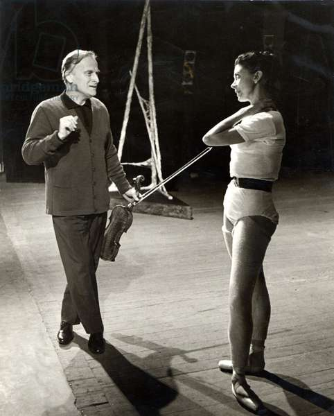 Yehudi Menuhin holding violin, with Margot Fonteyn (English Ballet Dancer, - b