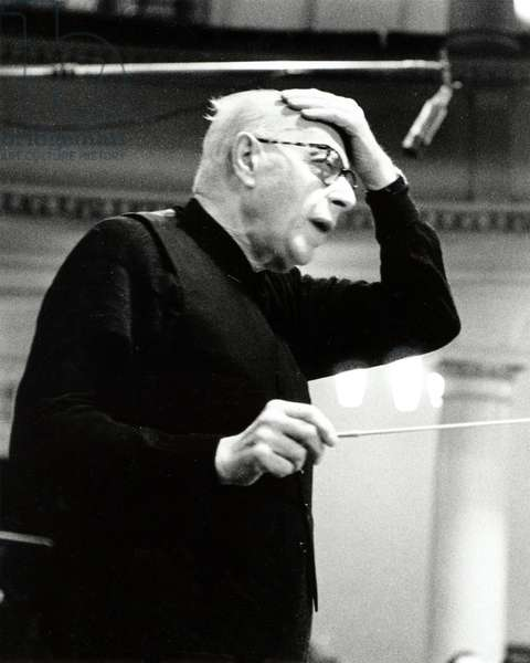 SZELL, George - conducting  c1968 Hungarian Conductor, 1897-1970