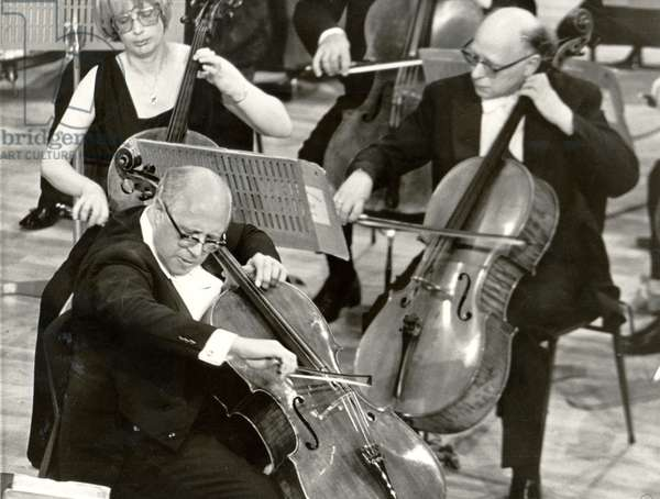 Mstislav (Mistislav) Rostropovich - Russian cellist, pianist and conductor