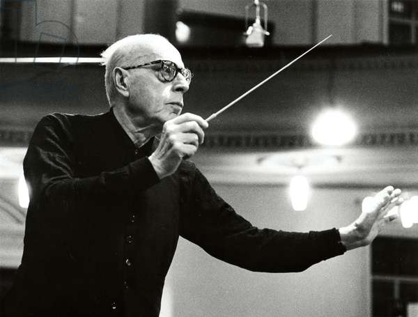 SZELL, George - conducting  c1968 Hungarian Conductor, 1897-1970 #SZ/6