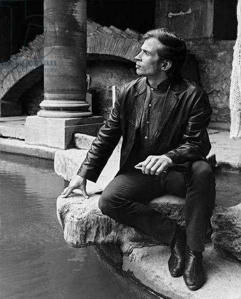 Rudolf Nureyev at the Roman Baths, Bath, 1963 Soviet-British dancer and choreographer, b