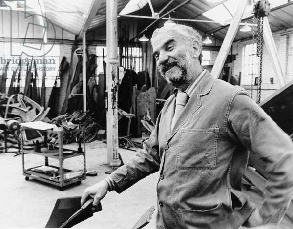 Anthony Caro at work in his workshop - studio c