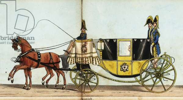 Carriage of the Spanish minister, Chevalier de Aguilar, in Queen Victoria's coronation parade