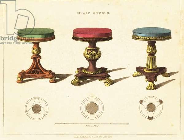 Music stools, Regency style