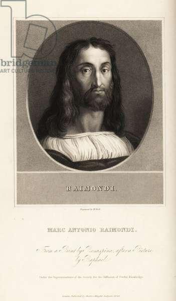 Portrait of Marcantonio Raimondi, Italian engraver, circa 1470-1534
