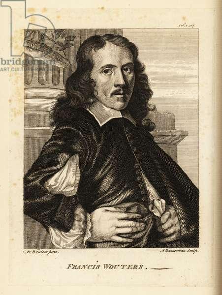 Portrait of Frans Wouters, Flemish Baroque painter, cabinet painter and court artist to the Roman Emperor, 1612-1659