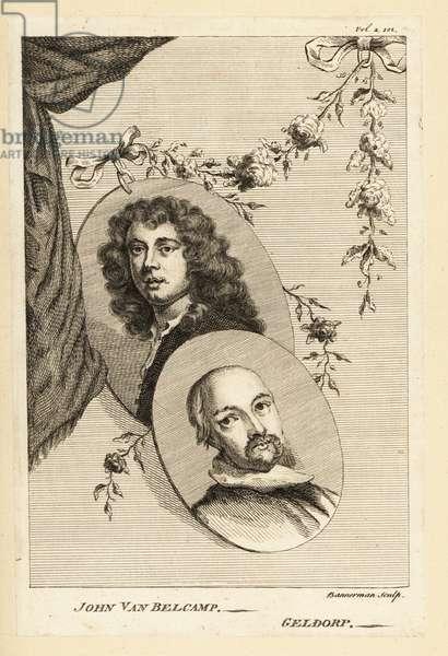 Portait medallions of Jan van Belcamp and George Geldorp
