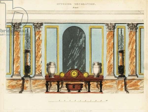 Interior decoration: Roman