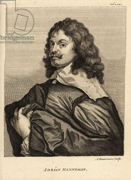 Portrait of Adriaen Hanneman, Dutch Golden Age painter best known for his portraits of the exiled British royal court, circa 1603-1671