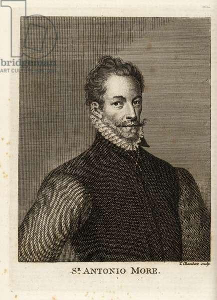 Portrait of Sir Anthonis Mor, Netherlandish portrait painter, circa 1517-1577