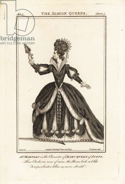 Mrs Elizabeth Hartley in the character of Mary Queen of Scots in John Banks' The Albion Queen, Covent Garden Theatre, 1779