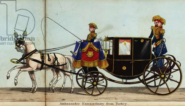 Carriage of Ahmed Fethi Pacha, Ambassador Extraordinary from Turkey, in Queen Victoria's coronation parade