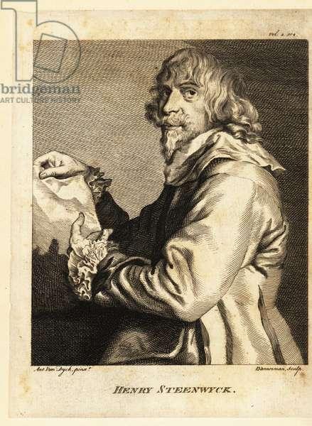 Portrait of Hendrik van Steenwijck II, Baroque painter mostly of architectural interiors, circa 1580-1640
