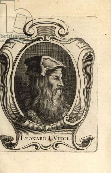 Portrait of Leonardo da Vinci, Italian Renaissance artist.