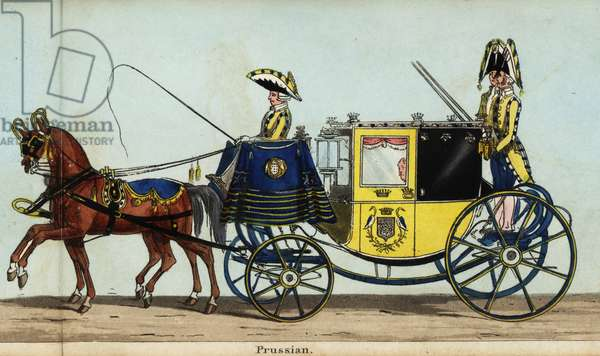 Carriage of the Prussian minister, Baron Bulow, in Queen Victoria's coronation parade
