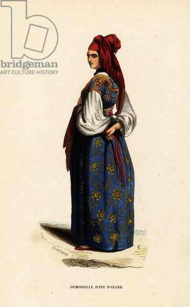 Young Jewish woman of Algiers, Algeria