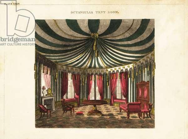 Octagonal tent room, Regency style