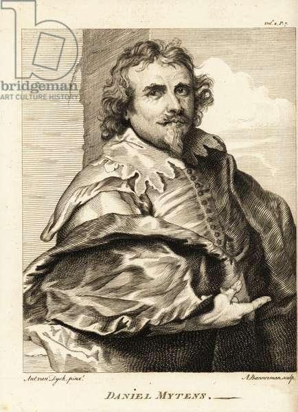 Portrait of Daniel Mytens the Elder or Daniël Mijtens, Dutch portrait painter who worked in England, circa 1590-1648