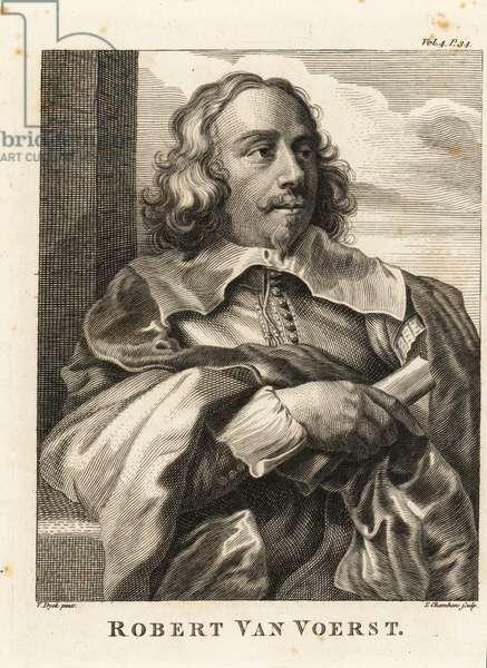 Portrait of Robert van Voerst, Dutch engraver, royal engraver to King Charles I of England, 1597-1636